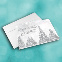 Picture of Silver Snow Christmas Trees