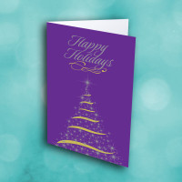 Picture of Bright Purple Christmas Tree
