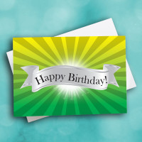 Picture of Happy Birthday Yellow Green Glow