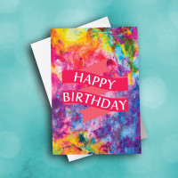 Picture of Water Color Birthday