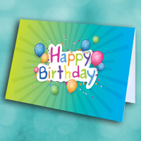Picture of Blue Yellow Burst Birthday