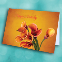 Picture of Orange Lilly Birthday
