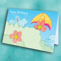Picture of Taylor's Flower Smile Birthday card