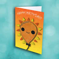 Picture of Orange Smile Balloon Birthday