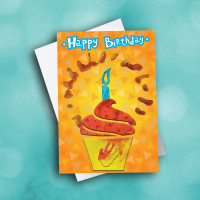 Picture of Mykah's Cupcake Birthday Card