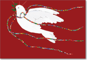 Picture of Dove With World Flags