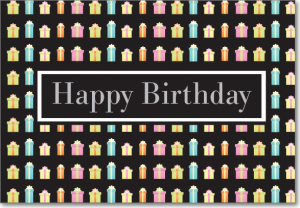 Picture of Pastel Gifts Pattern Birthday