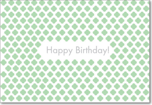 Picture of Green Clover Pattern Birthday