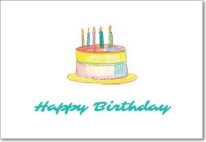 Picture of Teal Pastel Cake Birthday