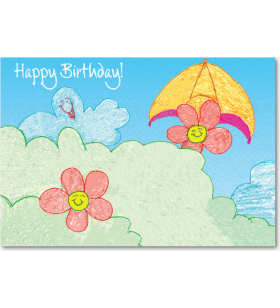 Children Art Corporate Birthday Greeting Cards