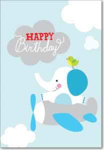 Picture of Flying Elephant Birthday