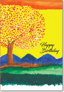 Picture of Tree Sunset Birthday