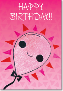 Picture of Pink Smile Balloon Birthday