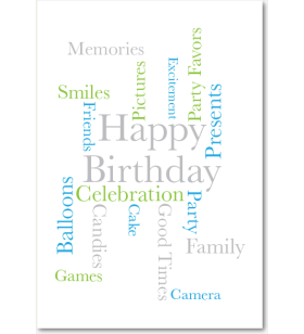 Picture of Birthday Words