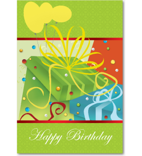 Picture of Green Gift Celebration Birthday