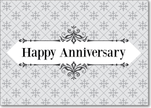 Picture of Silver Pattern Happy Anniversary