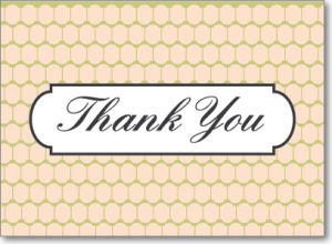 Picture of Gold Thank You Card