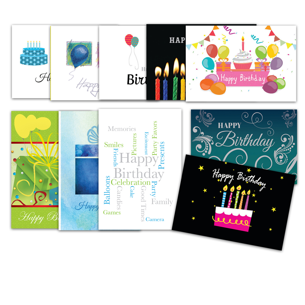 Assorted Corporate Birthday Greeting Cards