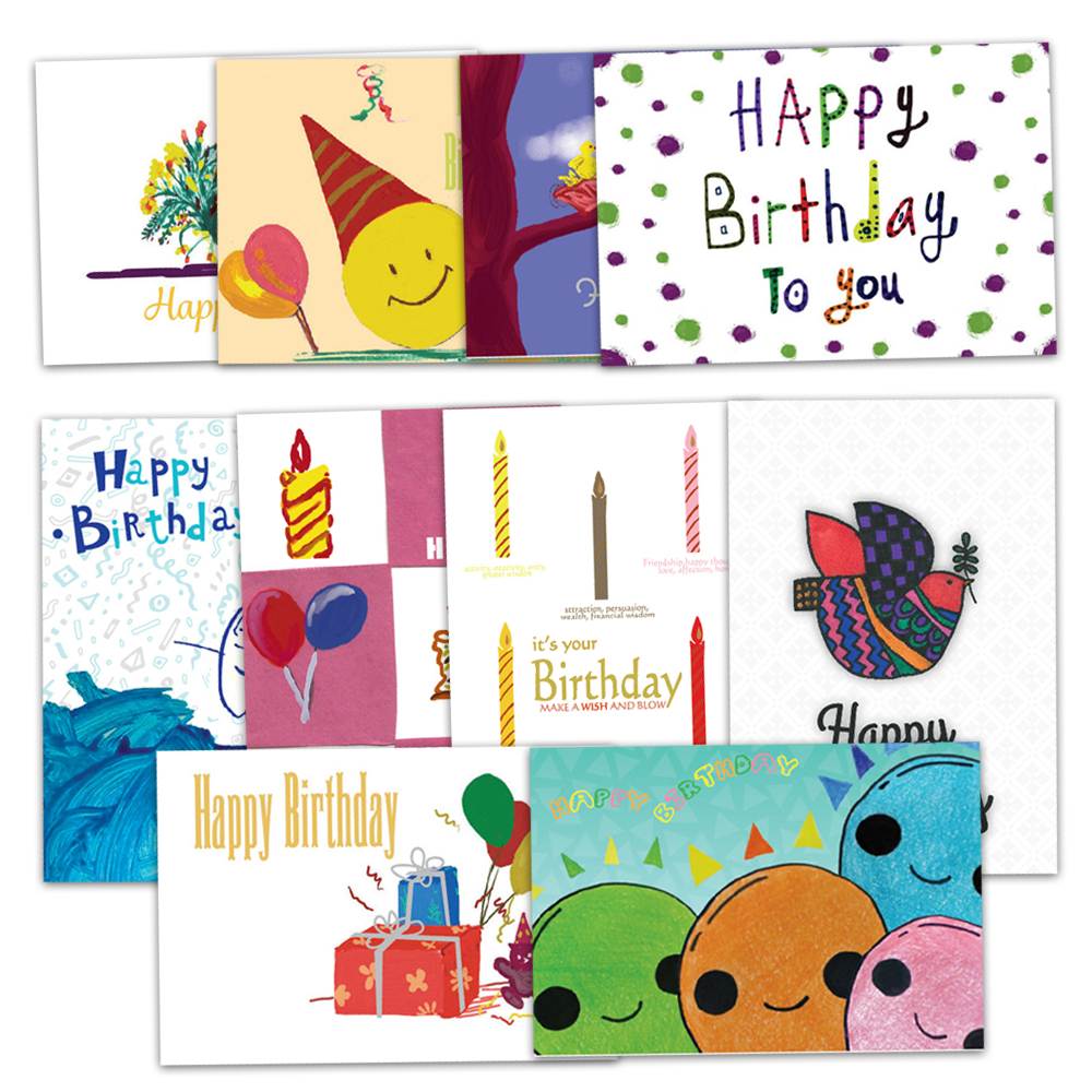 Assorted Birthday Busienss Greeting Cards