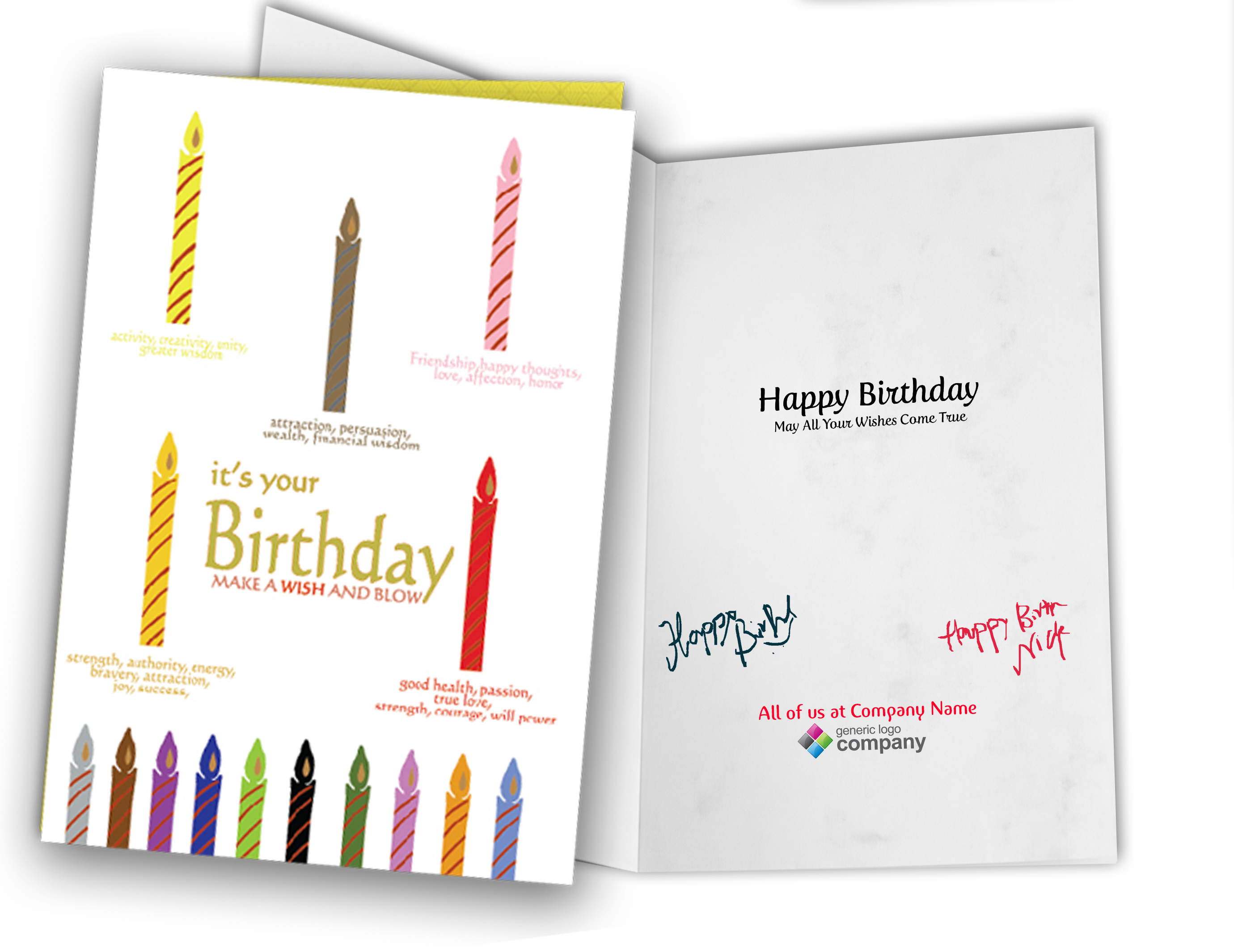 Personalized Busienss Birthday Greeting Cards