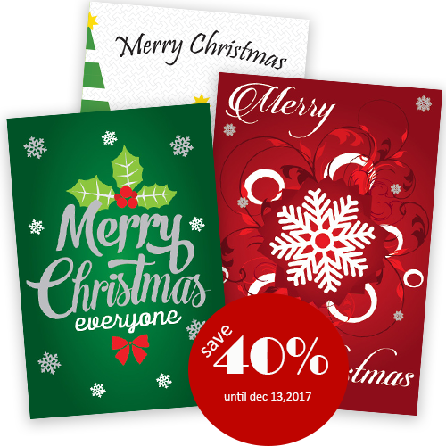 Personalized Busienss Holiday Greeting Cards