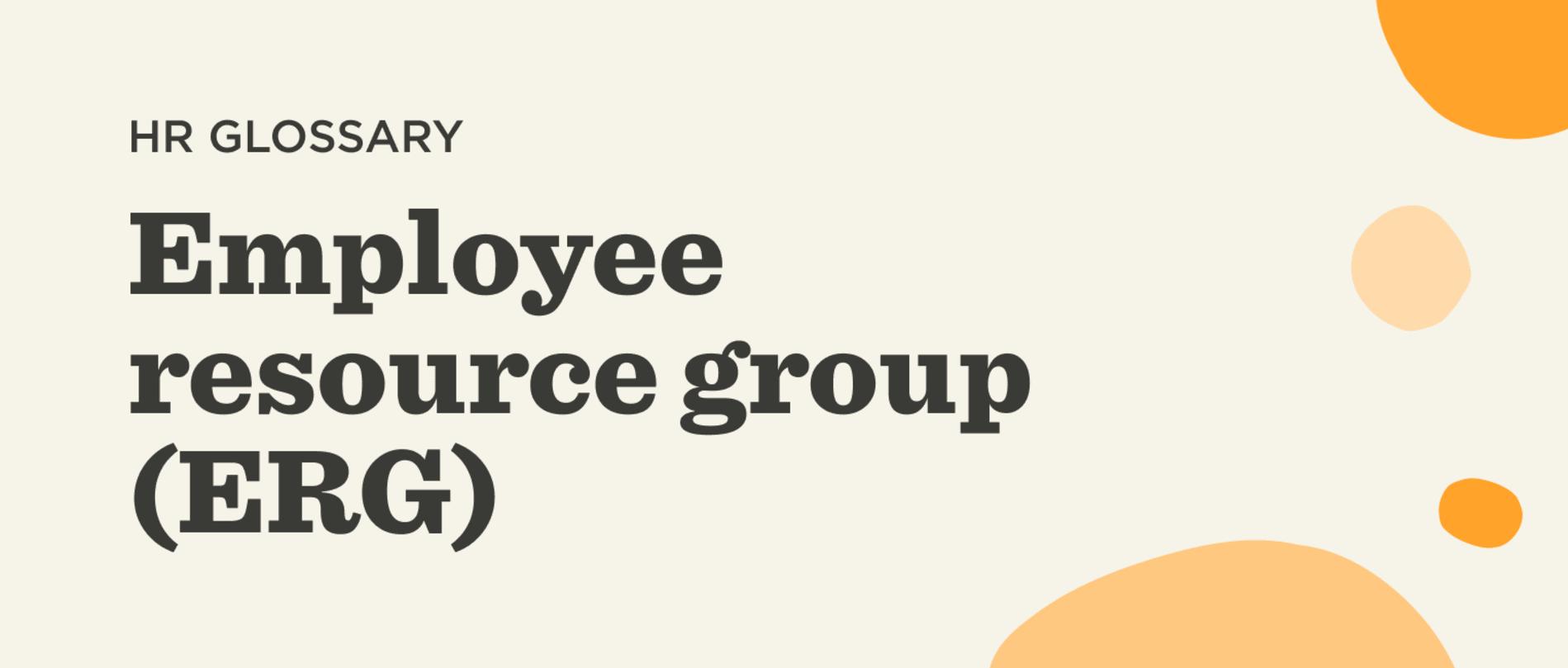 employee resource group (ERG)