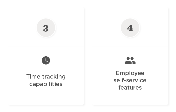 HRIS required features