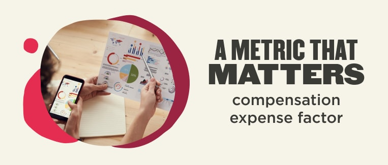 A metric that matters (compensation expense factor)