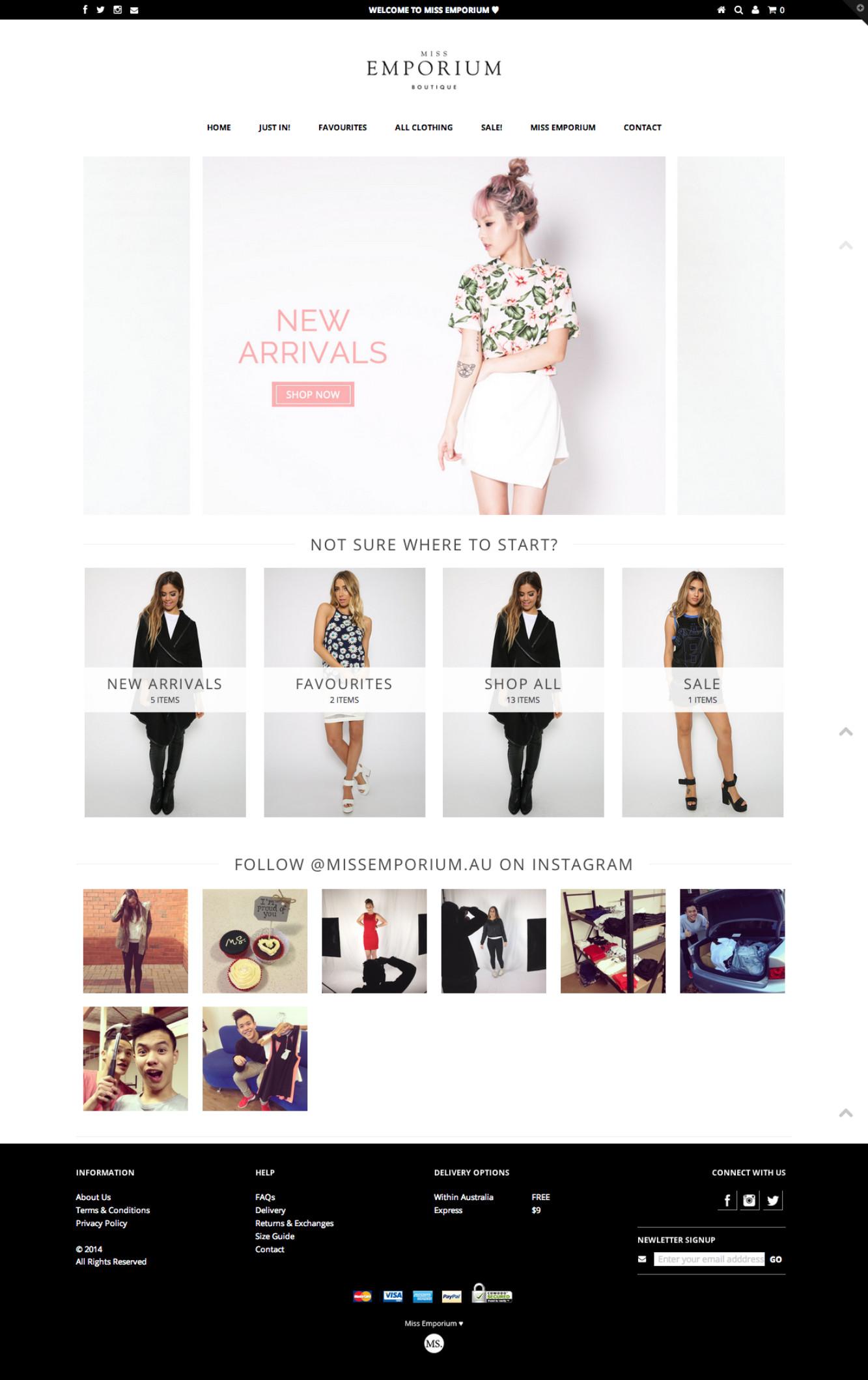 Miss Emporium - Women's online clothing store - Shopify Expert