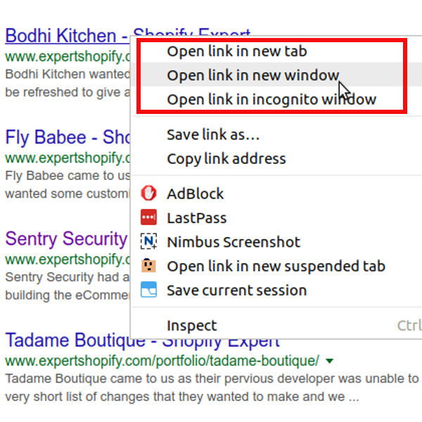 Open all external links in a new tab/window - Shopify Expert