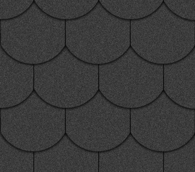 Tejas negras forma ovalada