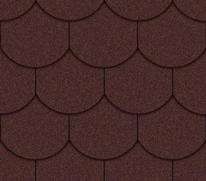 Tejas rojas forma ovalada