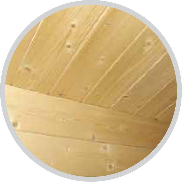 Tablas de techo de lengüeta y ranura 18 mm
