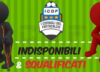 Indisponibili e squalificati Serie A
