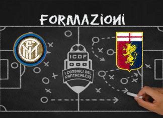 Inter Genoa Formazioni Ufficiali