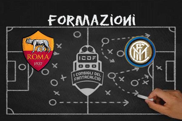 Roma Inter Formazioni Ufficiali