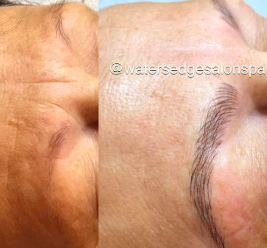 microblading, waters edge salon and spa