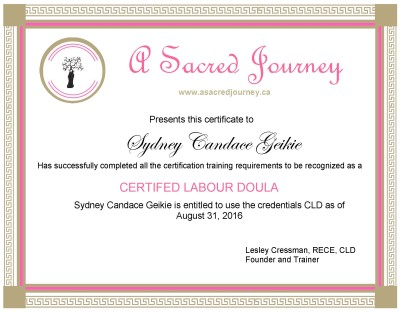 Certifed Labour Doula