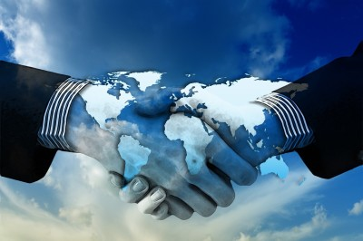 men shaking hands, global, world, united