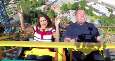 Roller Coaster Karoke with Selena Gomez & James Corden