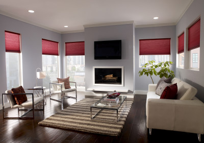 honeycomb shades Lutron home control motorized shades