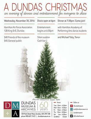A Dundas Christmas: An Evening of Dinner & Entertainment