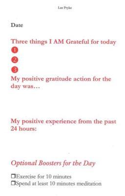 gratitude journal, lee pryke, happiness dialogue,