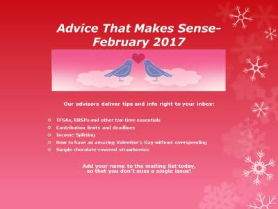 DCA Newsletter, Financial advice, Valentine tips,