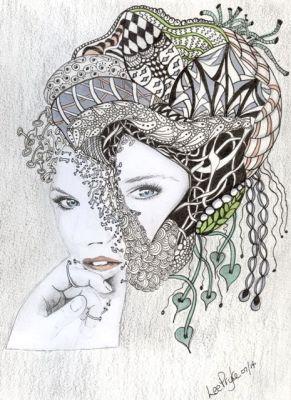 doodle, doodling, art, fairy,