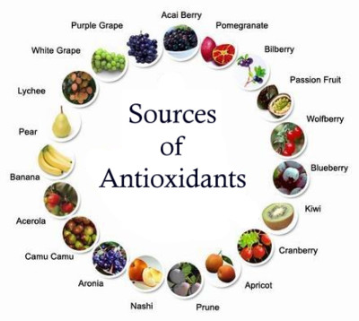 antioxidants, fruits, glutathione