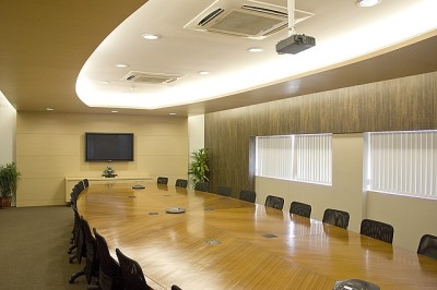 boardroom, table, chairs, corporate office, building