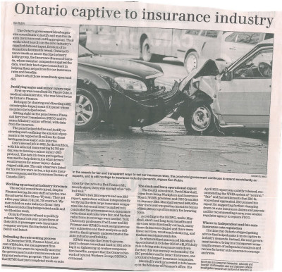Ontario Auto Insurance; Auto Insurance Reforms