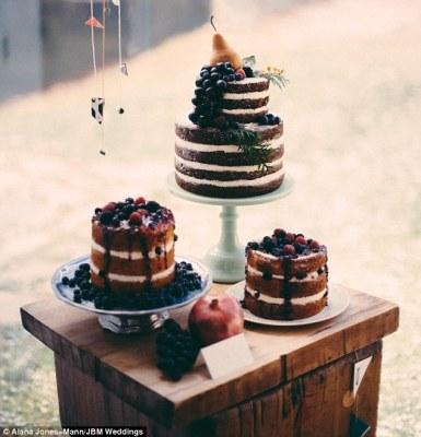 Naked, Wedding, Cake, Scrummy
