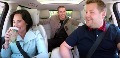 Carpook Karoke : Demi Lovato, Nick Jonas & James Corden